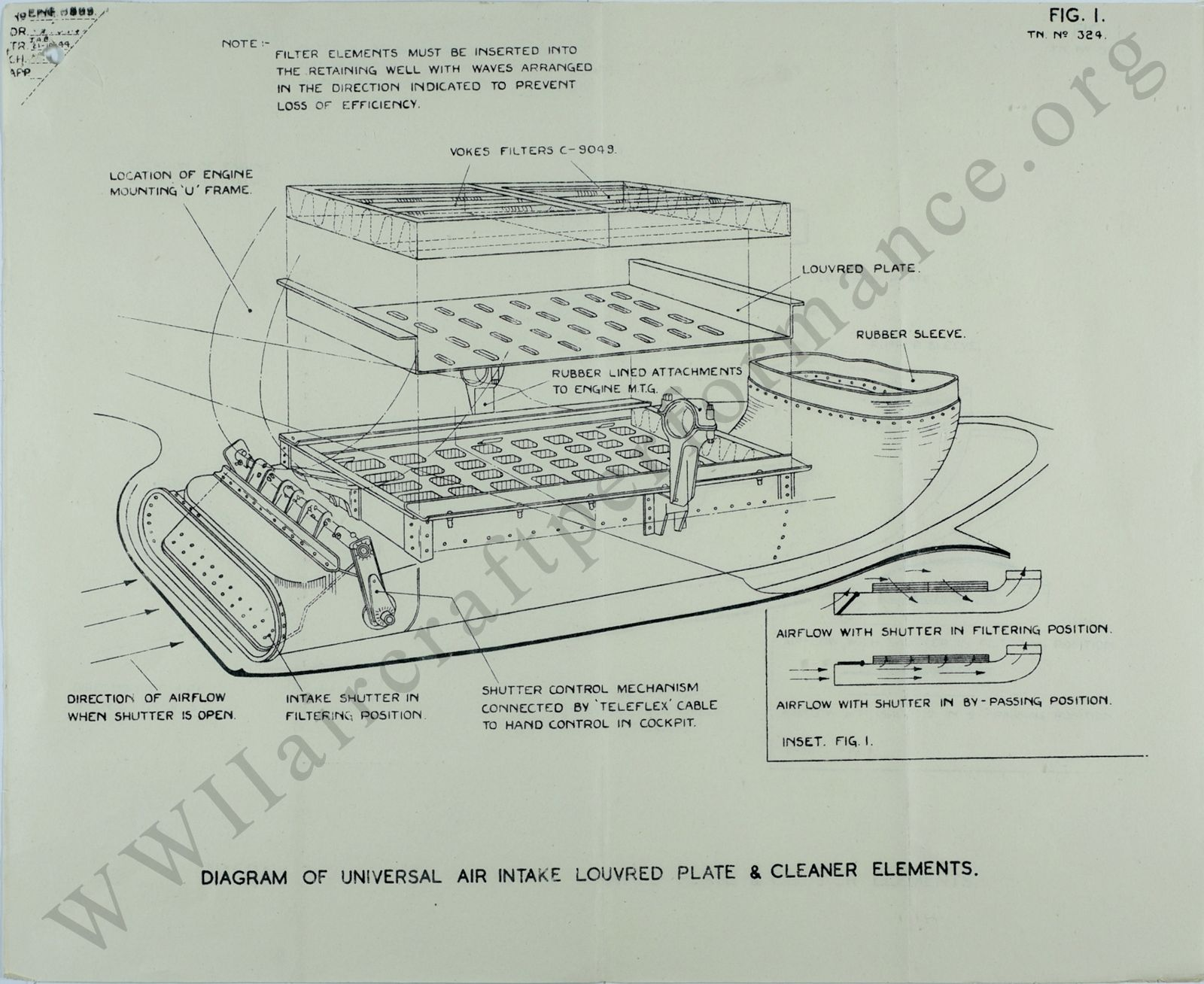 Spitfire Mk Ix Performance Trials Gt6 Mk1 Wiring Diagram Of Universal Air Intake Louvred Plate Cleaner Elements